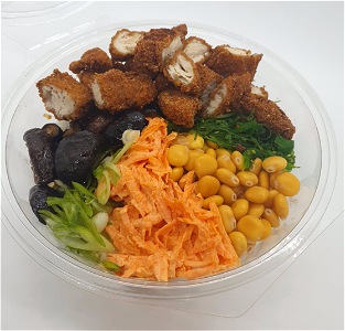 Foto Pokebowl crispy chicken